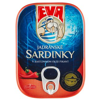 Eva Sardinky v rastlinnom oleji pikant 115 g