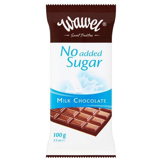 Wawel Mliečna čokoláda bez prídavku cukru 100 g