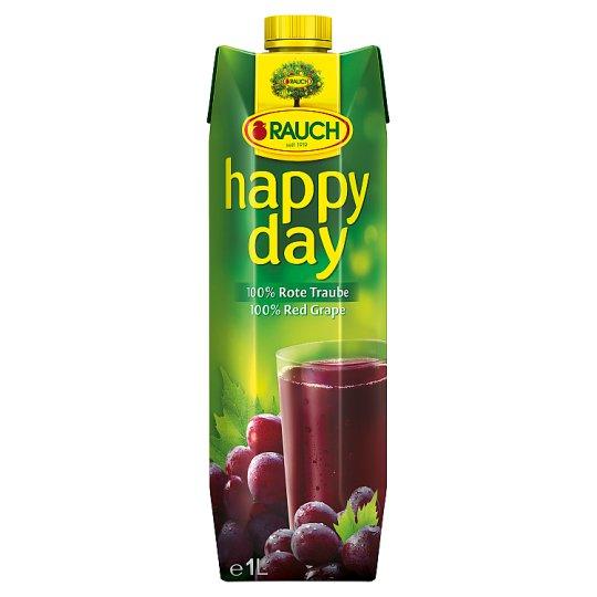 Rauch Happy Day 100% šťava z červeného hrozna 1 l