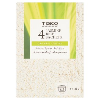 Tesco Jasmine Long Grain Rice in Cooking Bags 4 x 125 g