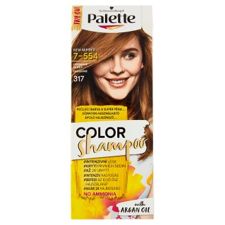 Schwarzkopf Palette Color Shampoo farba na vlasy Orieškovoplavý 7-554 (317)