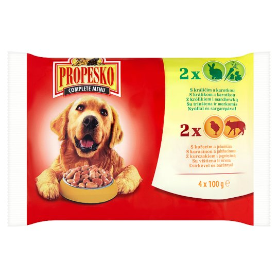 Propesko Complete Food for Adult Dogs of All Breeds 4 x 100 g