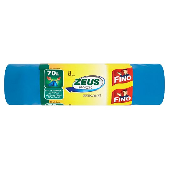 Fino Zeus Pack Retractable Garbage Bags Extra Strong 70 L 8 pcs