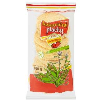 Jemné kukuričné placky s paprikovou arómou 100 g