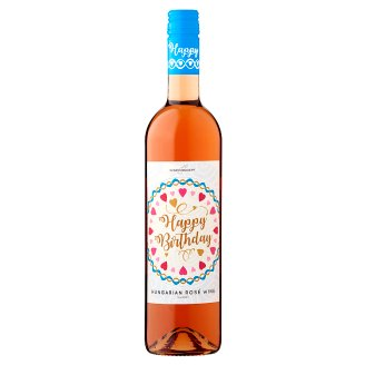 Wine Concept Happy Birthday Rozé Cuvée from Upper-Hungary Sweet Rosé Wine 0.75 L