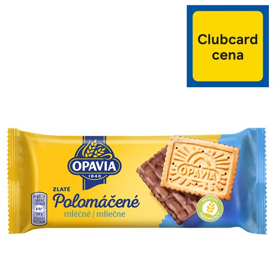 Opavia Zlaté Half-Dipped Milk Biscuits with Butter Flavour 100 g