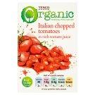 Tesco Organic Bio sekané paradajky v paradajkovej šťave 390 g
