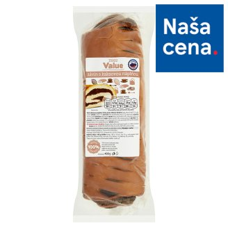 Tesco Value Strudel with Cocoa Filling 400 g
