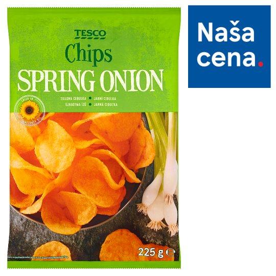 Tesco Smažené zemiakové lupienky s príchuťou jarnej cibuľky 225 g