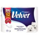 Velvet Soft White toaletný papier 3 vrstvy 12 rolí