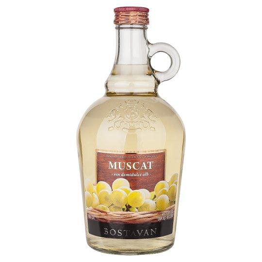 Bostavan Muscat biele polosladké víno 1000 ml