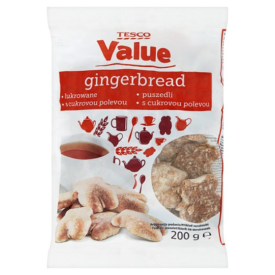 Tesco Value Gingerbread with Icing 200 g