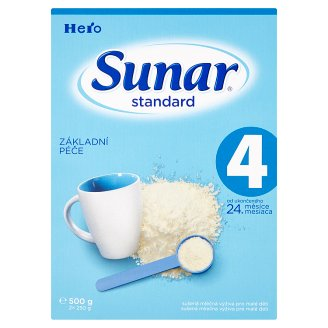 Sunar Standard 4 sušená mliečna výživa pre malé deti 2 x 250 g