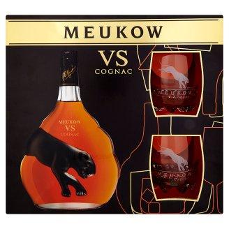 Meukow VS Cognac 0,7 l + 2 poháre
