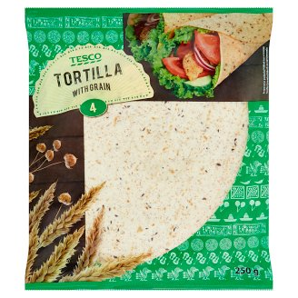 Tesco Tortilla with Grain 4 x 62.5 g