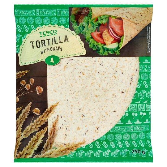 Tesco Tortilla with Grain 4 x 62.5 g