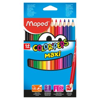 Maped Color'Peps Maxi farebné pastelky 12 ks