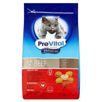 PreVital Premium Kompletné krmivo pre dospelé mačky s hovädzím 1,5 kg