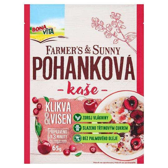Bona Vita Farmer's & Sunny Pohánková kaša kľukva-višňa 65 g