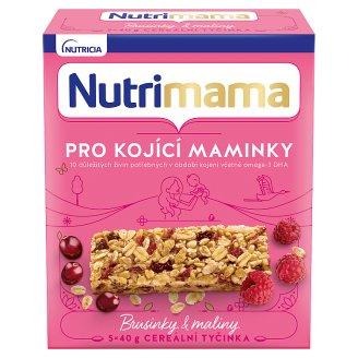 Nutrimama Profutura Cereálne tyčinky brusnice a maliny 5 x 40 g