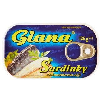 Giana Sardinky v slnečnicovom oleji 125 g