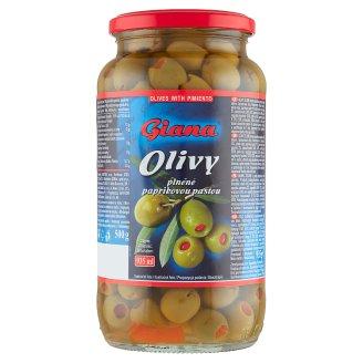 Giana Spanish Green Olives Stuffed with Pepper Paste in Salt Brine 935 g