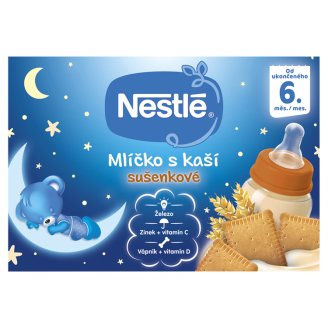 Nestlé Mliečko s kašou sušienkové 2 x 200 ml
