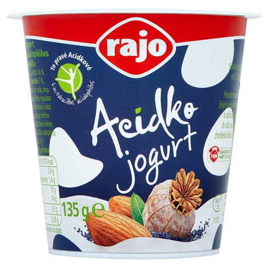Rajo Acidko Yoghurt Poppy - Almond 135 g