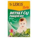 Leros Baby Detský čaj pokojné sny bylinný 20 x 1,5 g