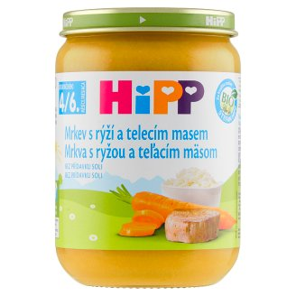 HiPP Organic Carrot with Rice and Veal 190 g