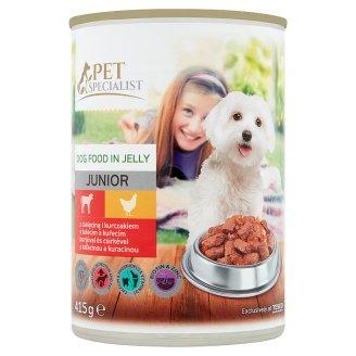 Tesco Pet Specialist Junior kúsky s teľacinou a kuracinou v želé 415 g