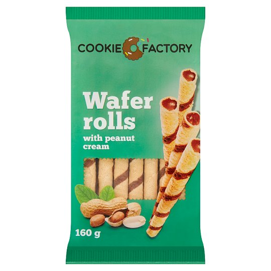 Cookie Factory Rolls with Peanut Cream 160 g