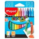 Maped Color'Peps Wax Crayons 12 pcs