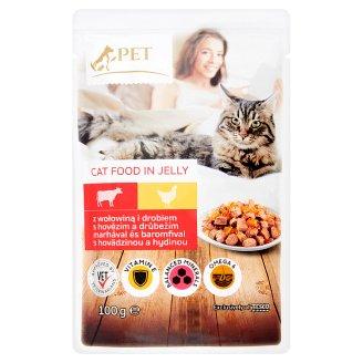 Tesco Pet Specialist Kúsky s hovädzinou a hydinou v želé 100 g