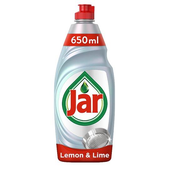 Jar Platinum Washing Up Liquid Lemon &Lime With 3X Action 650ML