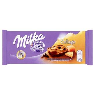 Milka Collage s kakaovou náplňou, s kúskami sušienok a kúskami karamelu 93 g