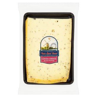 Van den Veer Gouda s čiernym a zeleným korením polotvrdý plnotučný syr 160 g