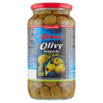 Giana Španielske zelené olivy bez kôstky v slanom náleve 880 g