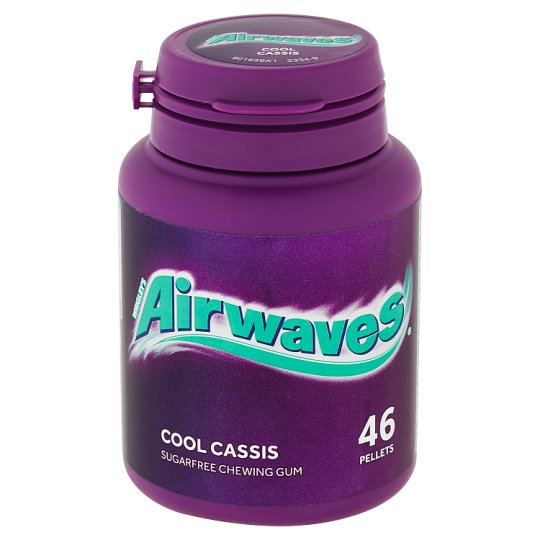 Wrigley's Airwaves Cool Cassis žuvačka bez cukru s príchuťou mentolu a čiernej ríbezle 46 ks 64 g