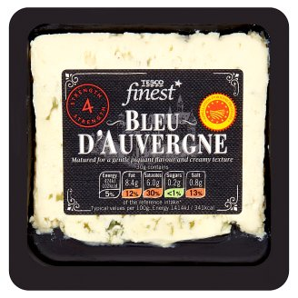 Tesco Finest Bleu D´Auvergne - Semi-Soft Ripened Full-Fat Blue Cheese 150 g