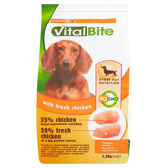 VitalBite Complete Pet Food for Adult Small Breed Dogs with Fresh Chicken 1.5 kg