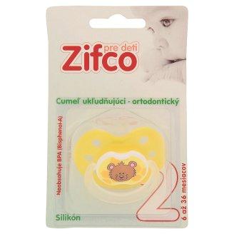 Zifco Pre deti 2 Ukľudňujúci ortodontický silikónový cumeľ
