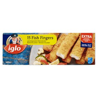 Iglo 15 Deep Frozen Fish Fingers 420 g