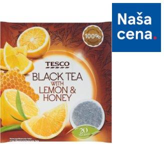 Tesco Čierny čaj s jablkami a príchuťou citrónu a medu aromatizovaný porciovaný 20 x 2 g