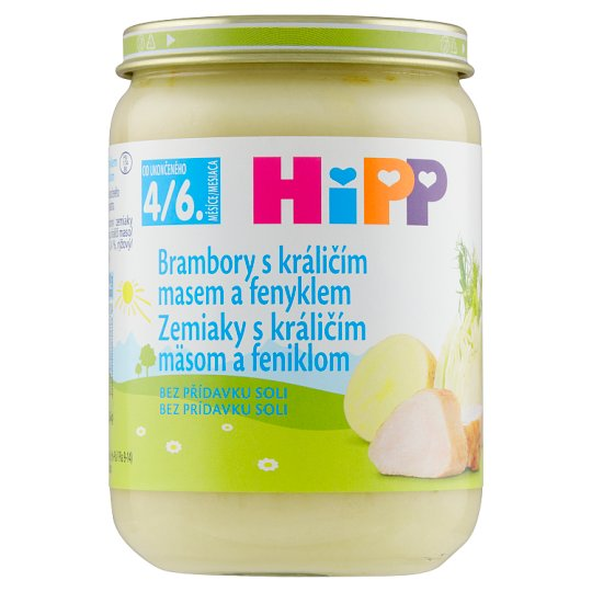 HiPP Potatoes with Rabbit Meat and Fennel 190 g