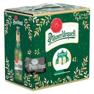 Pilsner Urquell Svetlé pivo 7 x 500 ml + krígeľ ako darček