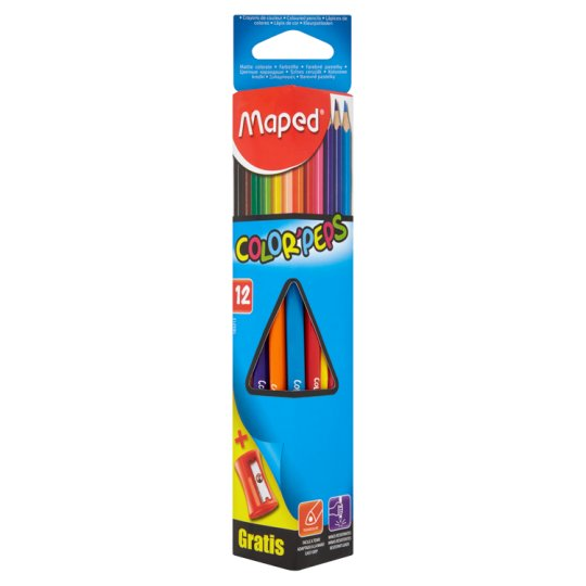 Maped Color'Peps Triangular Color Pencils with a Sharpener 12 pcs