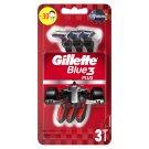 Gillette Blue3 Jednorazový Pánsky Holiaci Strojček – 3-kusové Balenie