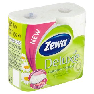 Zewa Deluxe Camomile Comfort toaletný papier 3-vrstvový 4 ks