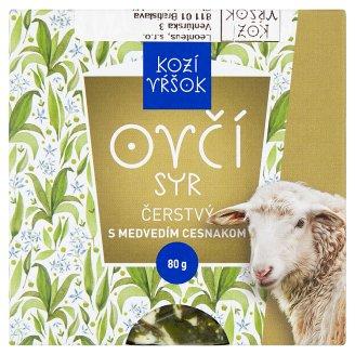 Kozí Vŕšok Ovčí syr čerstvý s medvedím cesnakom 80 g